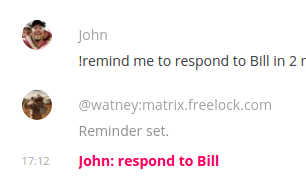!remind me to respond to Bill...