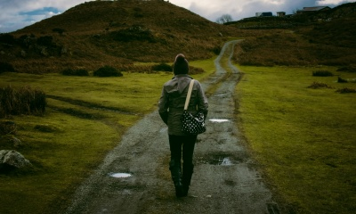 Walking on path