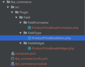 New module directory structure, with field plugin skeleton