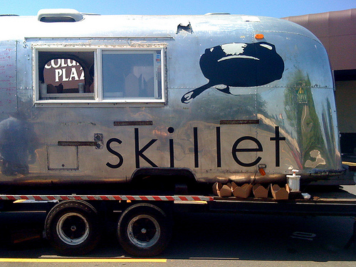 An Airstream Skillet Trailer